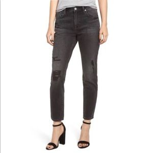 Blank NYC Black Denim Ankle/Cropped Jeans
